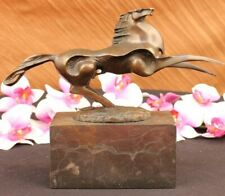 Signed Original Abstract Art Noveau Hot Cast Bronze Horse Head Bust Sculpture NR