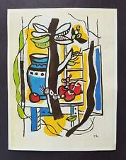 """Fernand Leger  """"Still Life With Fruit""""  Mounted off-set Color Lithograph 1971"""