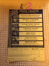 More details for greek theatre griffith park los angeles flyer henry mancini woody allen belafont