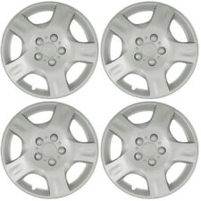 Wheel Covers Hubcaps aftermarket new set of 4 Silver painted 16 inch 5 spokes
