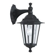 LAMPADA DA PARETE DA ESTERNO 1 LUCE LANTERNA GIARDINO LEGA ALLUMINIO NERO