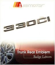 Black Chrome Trunk Lid Emblem Badge Letters 330Ci for BMW E46 E92 Coupe 3-Series