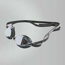 SPEEDO FASTSKIN SPEEDSOCKET 2 MIRROR SWIMMING GOGGLES BLACK COMPETITION RACING