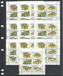 Zebra Horses 1998 Ingushetia local Russia MNH 6 v set perf  X 10 Wholesale
