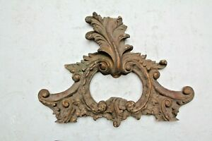 RARE STUNNING HAND CARVED FRENCH GOTHIC FANCY CHURCH WOOD CARVING PLAQUE BRACKET