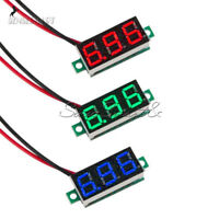 Red/Blue/Green DC 4.7-30V 0.36 2 Wire LED Digital Panel Meter Voltage Voltmeter