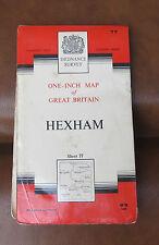 Ordnance Survey 1 inch Map, Hexham, Sheet 77. Cloth. 1964. Uk P&P inc