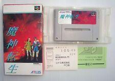 Jeu super nintendo SNES Famicom Japan Majin Tensei SHVC ZM avec  boite