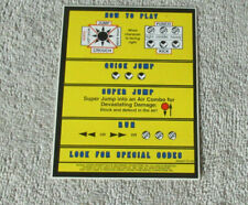 original MARVEL SUPER HEROES  CPS2 sticker ARCADE VIDEO GAME ART
