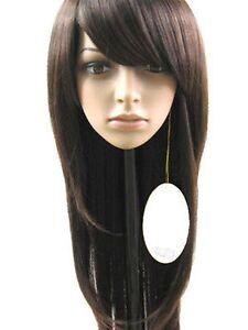 100% Real Hair! Fashion Women's long Brown Straight Hair Human Hair Women's Wigs