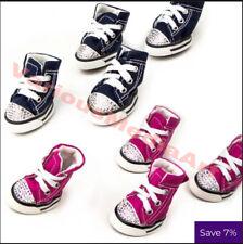 Bling Pet Dog Anti-slip Sports Denim Sneakers Shoes Puppy Boots 4pcs - USA Sale