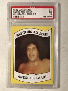 1982 Wrestling All Stars ANDRE The GIANT Rookie #1 PSA 5 EX Excellent Condition