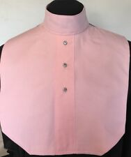 English Hunt Seat Ratcatcher Style Pink AB Button Show Bib Dickie