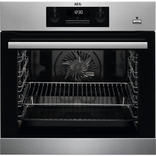 AEG BPK351020M 'A+ Rated' Multifunction Electric SteamBake Single Oven