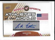 2010 Upper Deck UD World of Sports Bob Estes Auto Golf Card