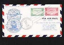 San Francisco Hong Kong Trans Pacific 20c & 50c 1s Flight 1937 Air Victoria HK t
