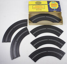 """Vintage 9"""" Curved Roadways HO Scale Slot Car With Box Aurora Model Motoring"""
