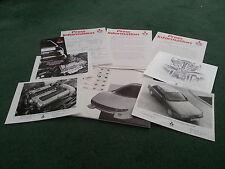 JUIN 1988 MITSUBISHI GALANT 1800 2000 GTI UK PRESS PACK + PHOTOGRAPHIES brochure