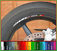 8 x MV AGUSTA Wheel Rim Decals Stickers Stripes - f3 f4 1000 r brutale 750