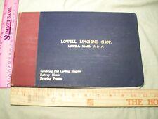 1897 Lowell Machine Shop Massachusettsn  Carding Engines   Railway Heads & more