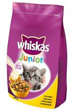 WHISKAS JUNIOR Kitty Kitten Cat Dry Food with Chicken 2-12 months 300g 10.6oz