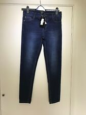 Boohoo Men's Blue Spray On Skinny Fit Jeans size 34R