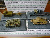 LOT 4 véhicules militaires PANZER sdkfz TANKS 1/72 seconde guerre mondiale WW2