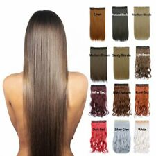Professional Clip in Hair Extensions Straight Hairpieces Natural As Human Hair