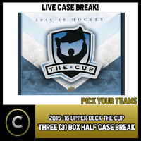 2015-16 UPPER DECK THE CUP 3 BOX CASE BREAK #H265 - PICK YOUR TEAM -