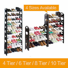 4/6/8/10 Tier Shoe Storage Shelf Rack Stand Organiser 12/18/24/30/50 Pairs Shoes