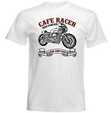 VINTAGE ITALIAN MOTORCYCLE MOTO GUZZI CAFE RACER 1000 - NEW COTTON T-SHIRT