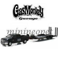 GREENLIGHT 32080 A GAS MONKEY 2016 DODGE RAM 2500 HEAVY DUTY CAR HAULER 1/64