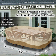 patio furniture winter covers. Large Patio Garden Rectangular Oval Table Chair Cover Outdoor Furniture Winter Covers