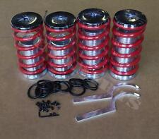 Red Adjustable Coilover Spring Kit For Civic 88-00 CRX DEL SOL Integra 90-01