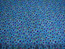 3 Yards Quilt Cotton Fabric - Northcott Topsy Turvy Tiny Floral Toss Turquoise