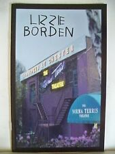 LIZZIE BORDEN Playbill CHRISTINE NOLL / TALLY SESSIONS Goodspeed CT 2001