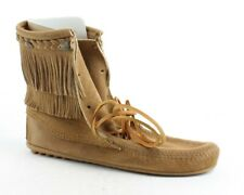 Minnetonka Womens Ankle Hi Tramper Taupe Ankle Boots Size 10