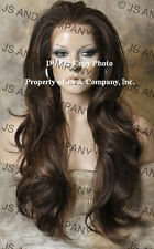 Extra Long HEAT SAFE Lace Front WIG Brown Auburn Mix Hair WBEM 4-27-30