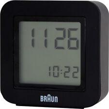 Braun Réveil À Quartz 66063 Noir de Voyage fonction Snooze avec Batterie