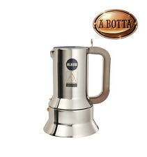 Espresso Coffee Maker ALESSI 9090/6 in 18/10 Stainless Steel 6 Cups - INDUCTION