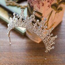 Vintage Wedding Bridal Queen Crown Tiara Crystal Rhinestone Hair Accessories SLE
