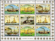 1984 St Thomas & Prince STEAM SHIP Stamp Sheet (Hansa/Elise/De Zeeuw/Fr.Wilhelm)