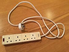 GET 4 Socket Gang Extension Lead Cable 2m Fused 13 A White Neon Indicator (6)