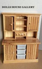 Cucina in Pino armadio, casa delle bambole mobili in miniatura, scala 1/12