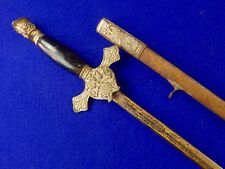 Vintage US Knights of Columbus Fraternal Masonic Sword w/ Scabbard