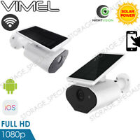 Wireless Security Camera Alarm Home Outdoor Solar Battery WIFI IP Night Vision
