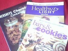 Hershey's Chocolate Cookbook Bars & Cookies Healthy Recipes 3 Booklets