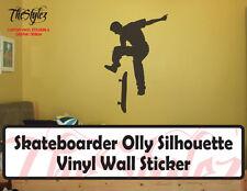 Skateboarder Olly Silhouette Vinyl Wall Sticker