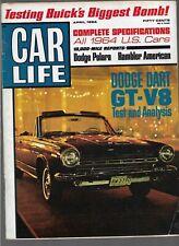 CAR LIFE MAGAZINE JULY 1964 BARRACUDA VALIANT'S FASTBACK V8 - AUTOMOBILE NEWS