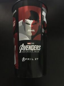 Avengers Infinity War 44oz Cup Hulk Thor Iron Man & Black Widow - Opening Night!